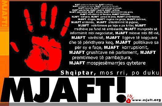 """Posteri Kryesor i """"Mjaft-it"""""""