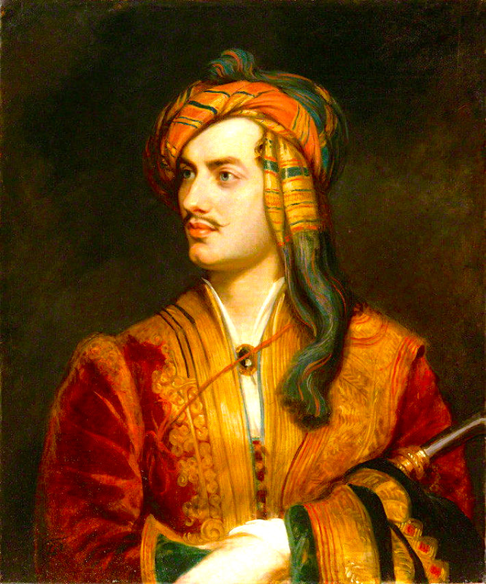 Lord Byron Phillips Thomas Phillips in Albaans Costuum