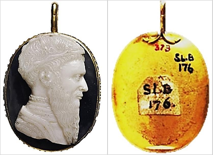 Kameo me portretin e Gjergj Kastriotit në British Museum - Londër