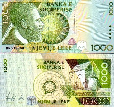 Kartmonedha 1000 lek (model i vjetër)