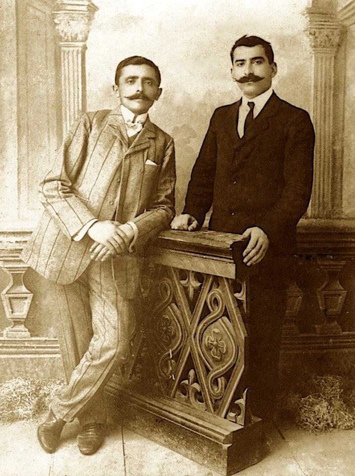 Luigj Gurakuqi dhe Stefan Kaçulini, në vitet '20