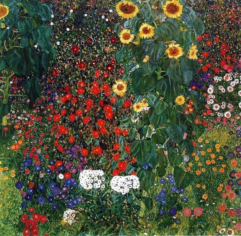 Gustav Klimt - Kopeshti i fshatit me luledielli