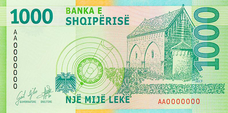 Kartmonedha 1000 lek (model i ri)