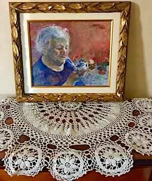 Nji pikturë me portretin e Nonës...