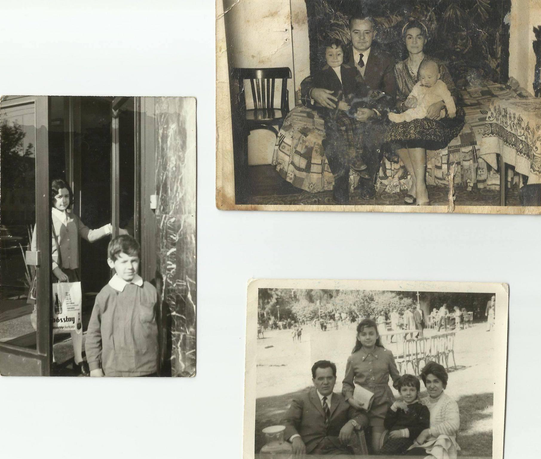 Qerim Haxhiu, e shoqja Shukrane dhe dy fëmijët Dhurata dhe Iliri,