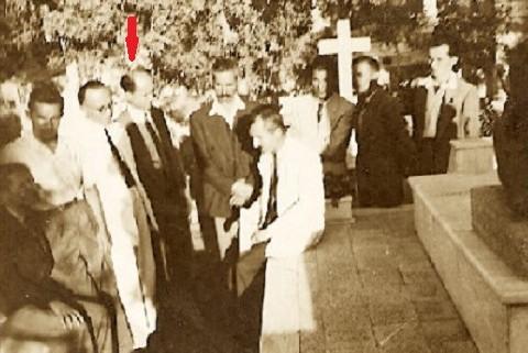 Homazhe ne Varrin e Andon Zako Cajupit ne Kajro ne 1951