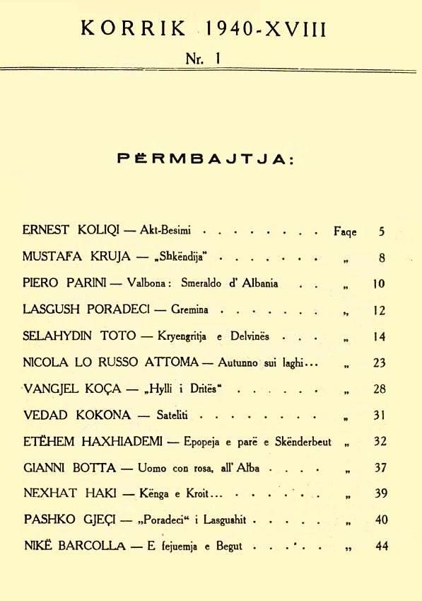 Revista Shkëndija e Ernest Koliqit - Nr. 1