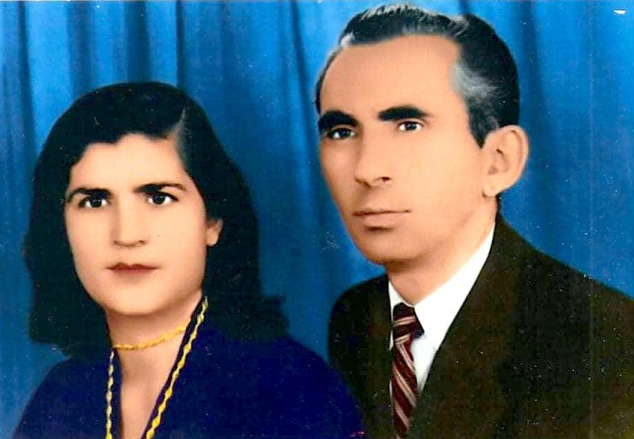 Reis Poshi dhe e shoqja ditën e Martesës - 1950