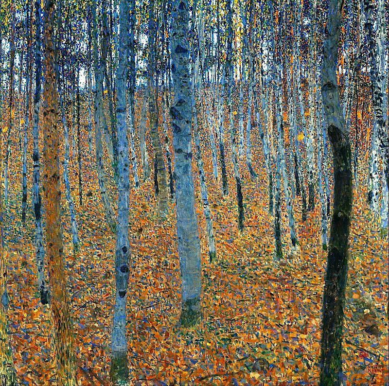 Gustav Klimt – Birch Forest