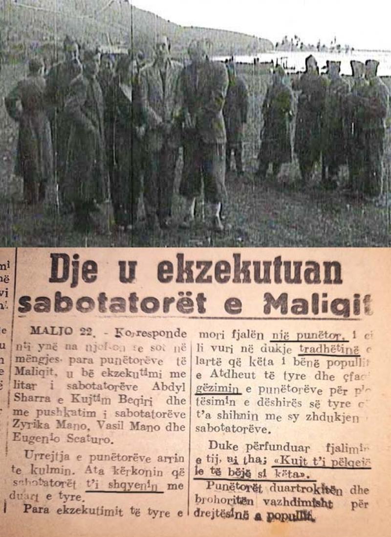 Njoftimi i Gazetës Bashkimi... dhe Ekzekutimi i Inxhinjerëve të Maliqit