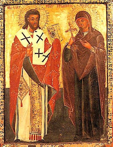 Shën Lefteri, Peshkop i Vlorës dhe Ilirisë - 15 dhjetor - dhe nëna e tij Anthia