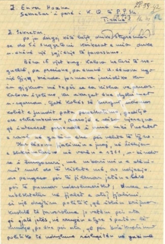 Musine Kokalari i shkruan Diktatorit