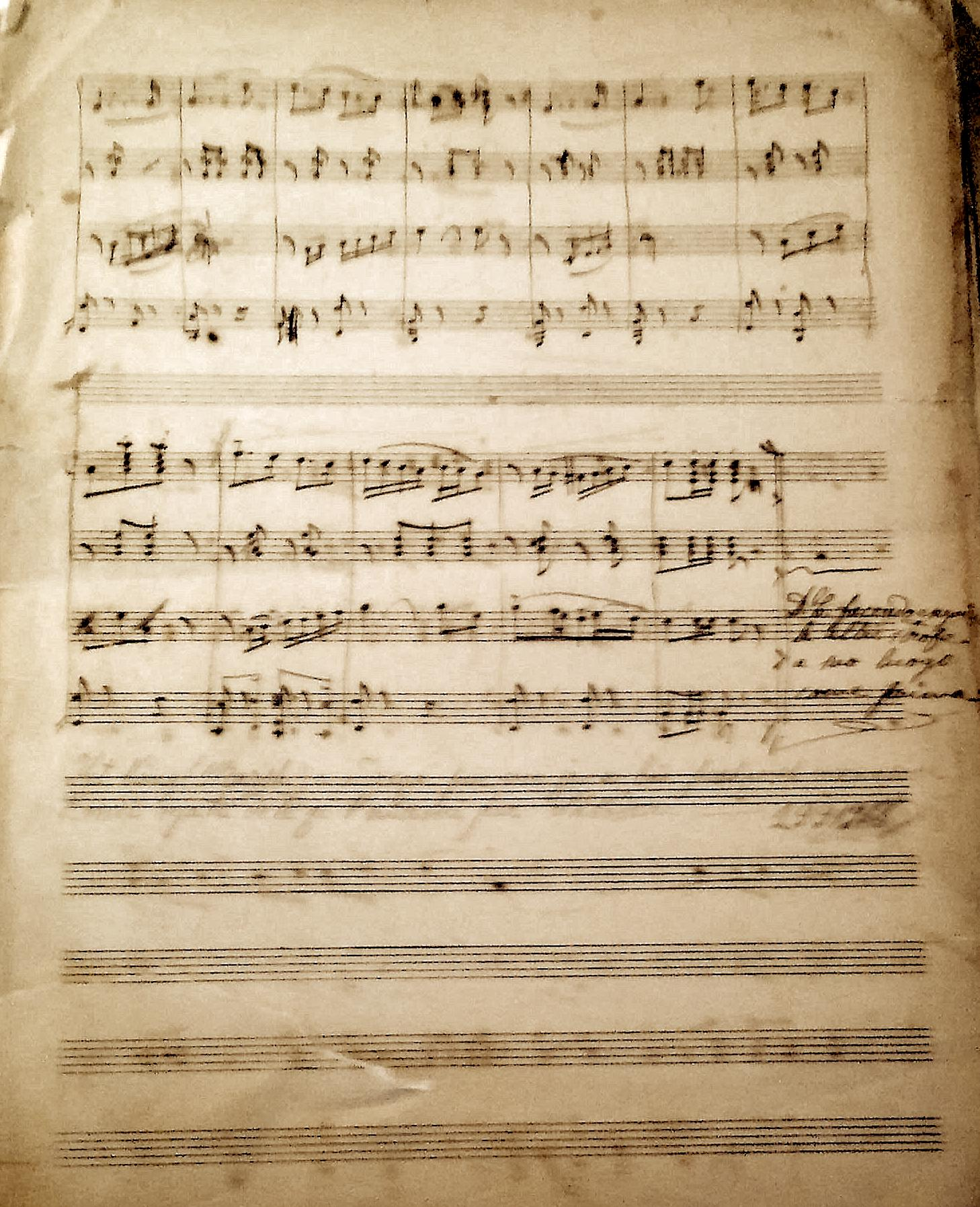 Faqja e 4 e Marshit ku është e shkruar dhe data e përfundimit të punës nga ana e kompozitorit 19.09.1918