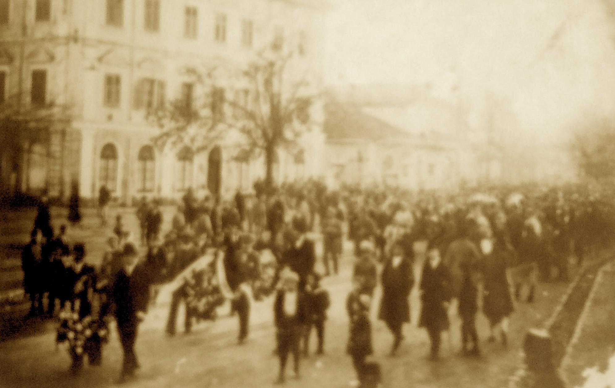 Pamje nga varrimi i Palok Kurtit, 01 Janar, 1921.
