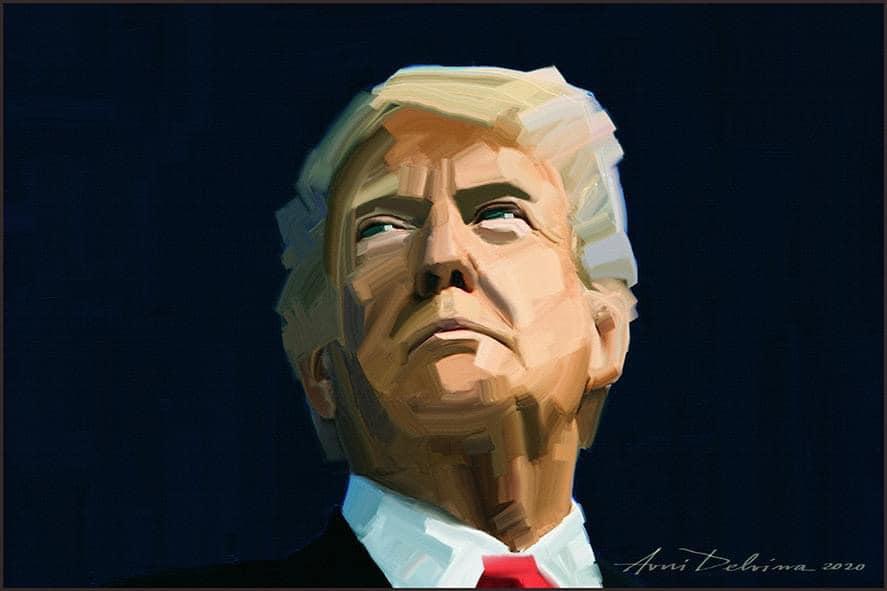 Donald Trump - pikture nga Avni Delvina