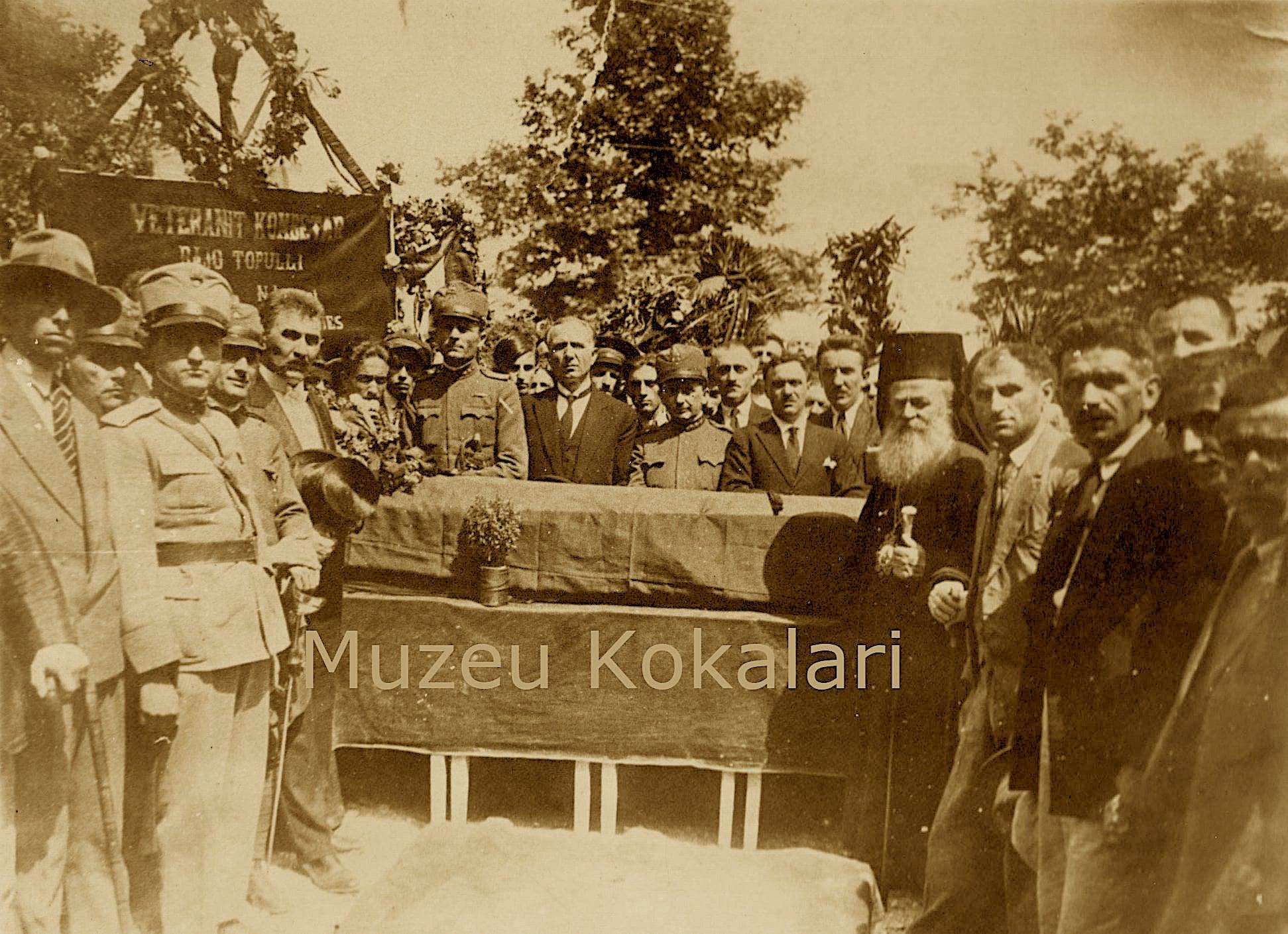 Ceremonia e varrimit të atdhetarit Bajo Topulli