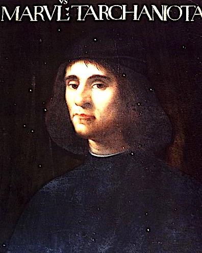 Portreti i Mikele Marullo Tarkaniota e Cristofano dell'Altissimo: 1568