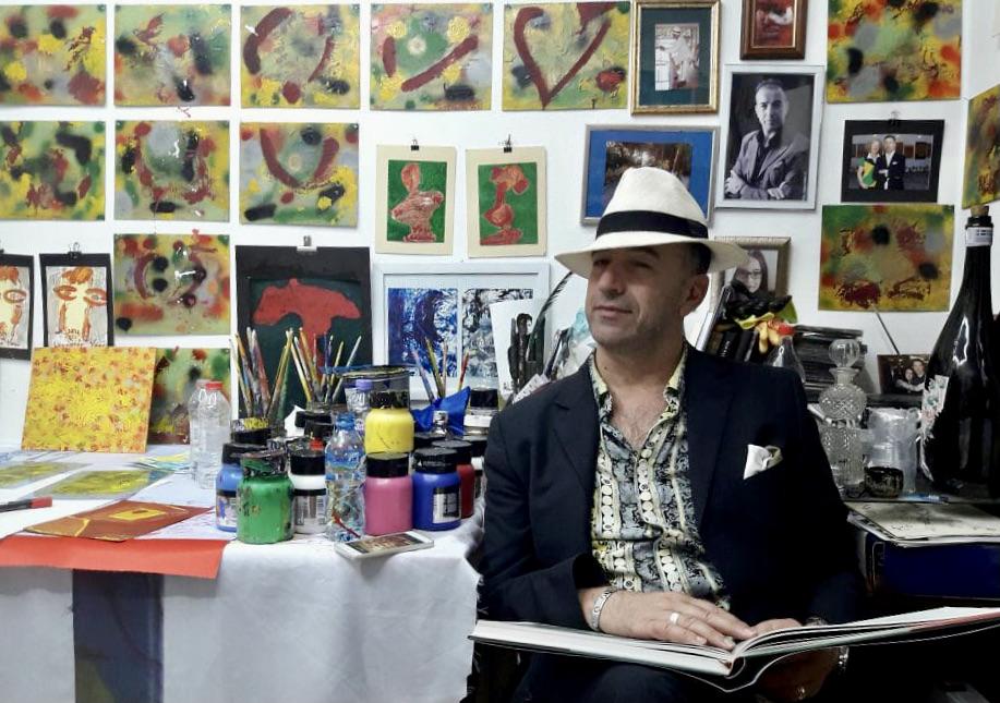 Leonardo Voci në studio e tij