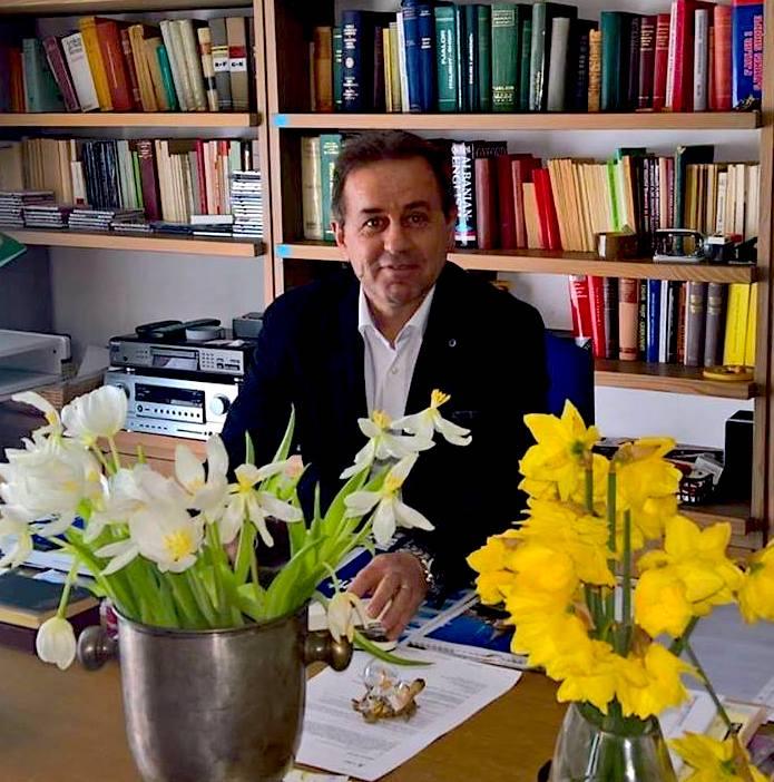 Gjergj Jozef Kola në studion e Martin Camajt