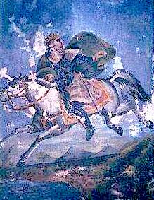 Afresk i Skanderbegut - Komuna Greci - 1900