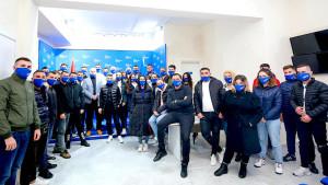 Bujar Leskaj me të rinjtë demokratë të Vlorës