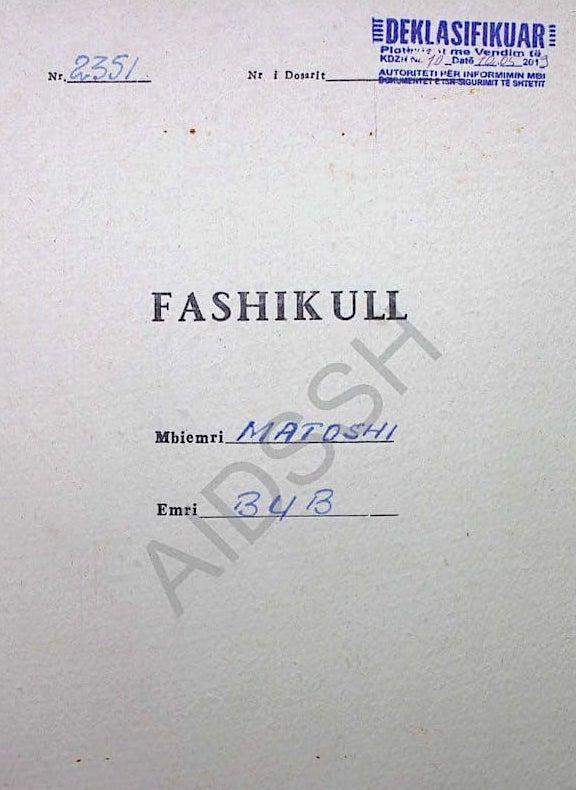 Fashikull i Dosjes 2351 - Bub Matosh Dedndreaj