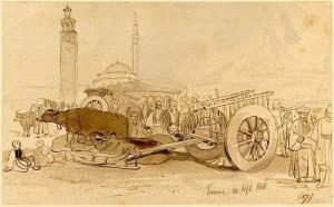 Edward Lear - Kulla e Sahatit 28 shtator 1848