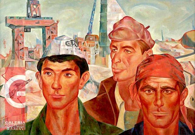 "Ismail Lulani - ""Ndërtuesit e Hidrocentralit"", 1971"