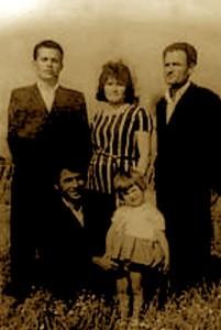 Faik Alla, Hajdine Alla, Aziz Alla, Haki Alla, Arjana Alla - Savër 1965
