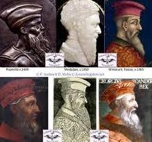 fig.9. Portrete të hershme të Kastriotit të Madh.