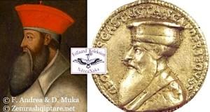 fig.16. Anonime, Portret i Skënderbeut, kalim nga medalioni në pikturë