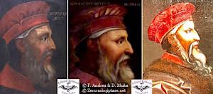 """fig.2 Skënderbeu nga Bellini, nga Altissimo dhe i """"Skënderbeu"""" Tef Curanit"""