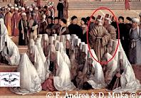 fig. 6. Gentile Bellini, Shqiptarët me veshjendhe kapelen e tyre karakteristike, albanojën