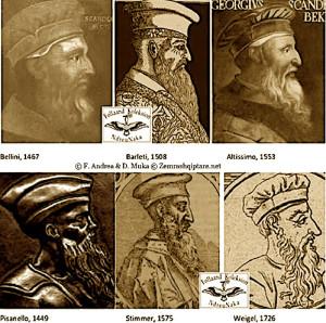 fig.11. Krahasueshmëri historike mes portreteve të Skënderbeut