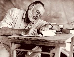 Ernest Hemingway duke shkruar - ne Kenya