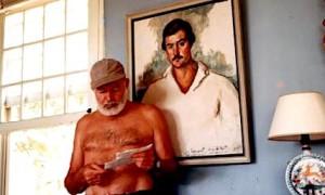 Hemingway në Kubë, 1953  dhe një portret i tij i rinisë