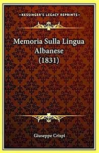 Giuseppe Crispi- Memoria della Lingua Albanese (1831)