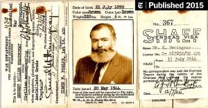 Ernest Hemingway - pasaporta