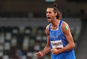 Gianmarco Tamberi - Medalje Ari (ex aeqouo) - Kërcimin së Larti