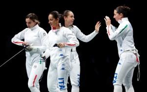 Rossella Fiamingo, Federica Isola, Alberta Santuccio & Mara Navarria - Medalje Bronxi - Skuadra e grave në shpatë.