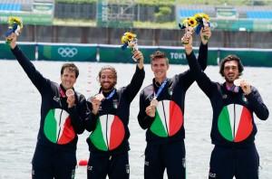 Matteo Castaldo,  Matteo Lodo, Marco Di Costanzo, & Giuseppe Vicino -Medalje Bronxi- kanotazh për 4.