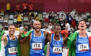 Lorenzo Patta - Marcell Jacobs - Eseosa Desalu - Filippo Tortu - Medaglie ari - Stafeta 4X100 m