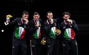 Luca Curatoli, Aldo Montano, Enrico Berrè & Luigi Samele - Medalje Argjendi - Shpatë për meshkuj në skuadër.