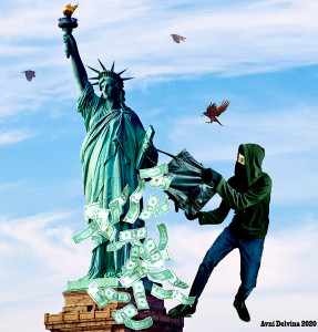 Statuja e Vjedhur - Grafikë nga Avni Delvina