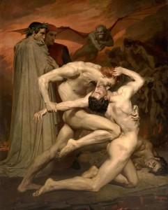 Dante & Virgil - nga William-Adolphe Bouguereau, 1840 (skenë nga Ferri)