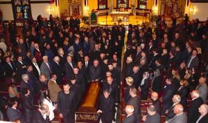 Ceremonia në kishë e përcjelljes së Marash Merrnaçajt